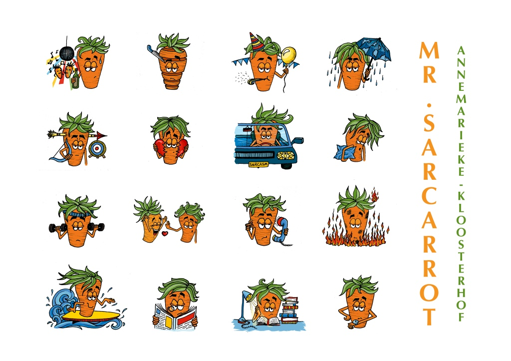 Mr.Sarcarrot Sticker Set