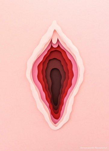 Paper Vulva A4 - Annemarieke Kloosterhof