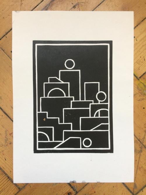 SPEELGOED STIJL black and white vinyl print